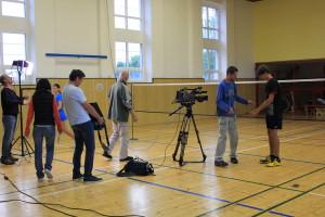 přípravy na natáčení